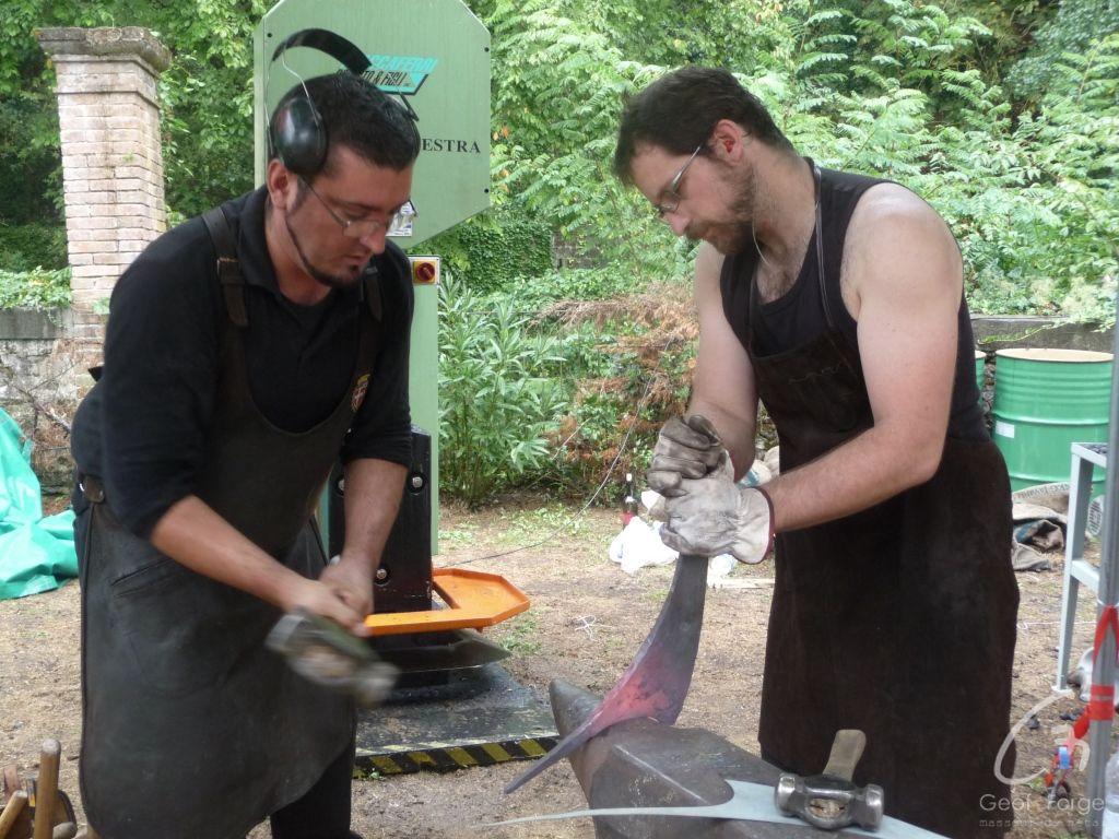 www.masseur-metal.fr - Geoffroy Weibel forgeron d'art, forge et metallerie contemporaine Strasbourg - Stia Italie 2015 (2)